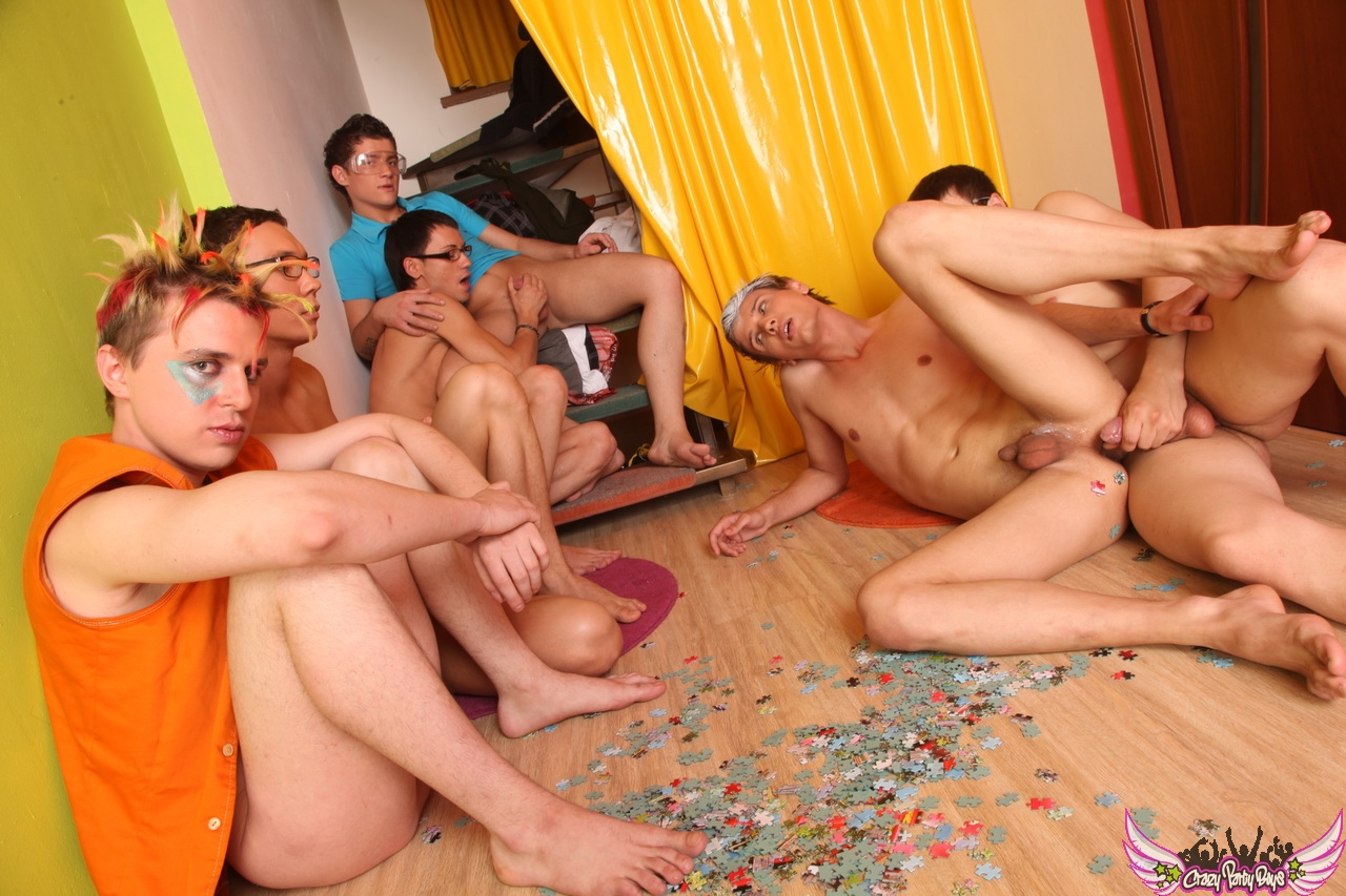Gay bukkake blowjob group orgy
