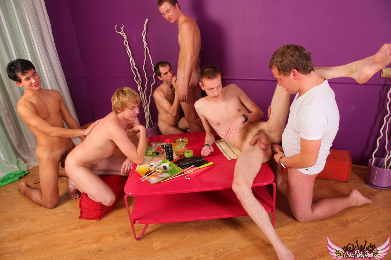 Naked Guys At Party