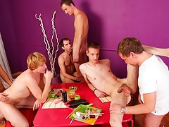 gay group sex in a locker room